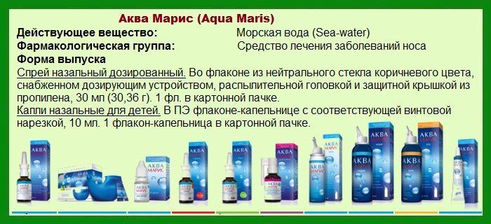 Аква Марис - инструкция